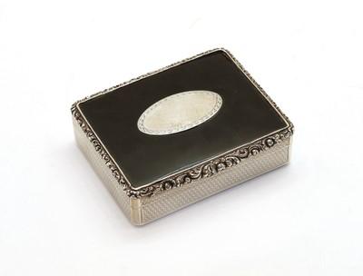 Lot 73 - A Regency tortoiseshell mounted silver case