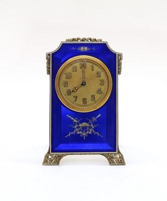 Lot 57 - A Swiss Argent Doré table clock