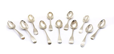Lot 80 - A collection of eleven 19th century serving spoons