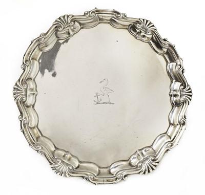 Lot 512 - A George II silver salver