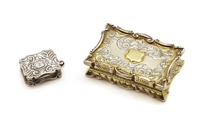 Lot 69 - A Victorian gilt silver vinaigrette