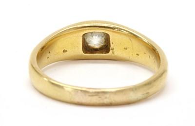 Lot 1 - A gold single stone diamond ring