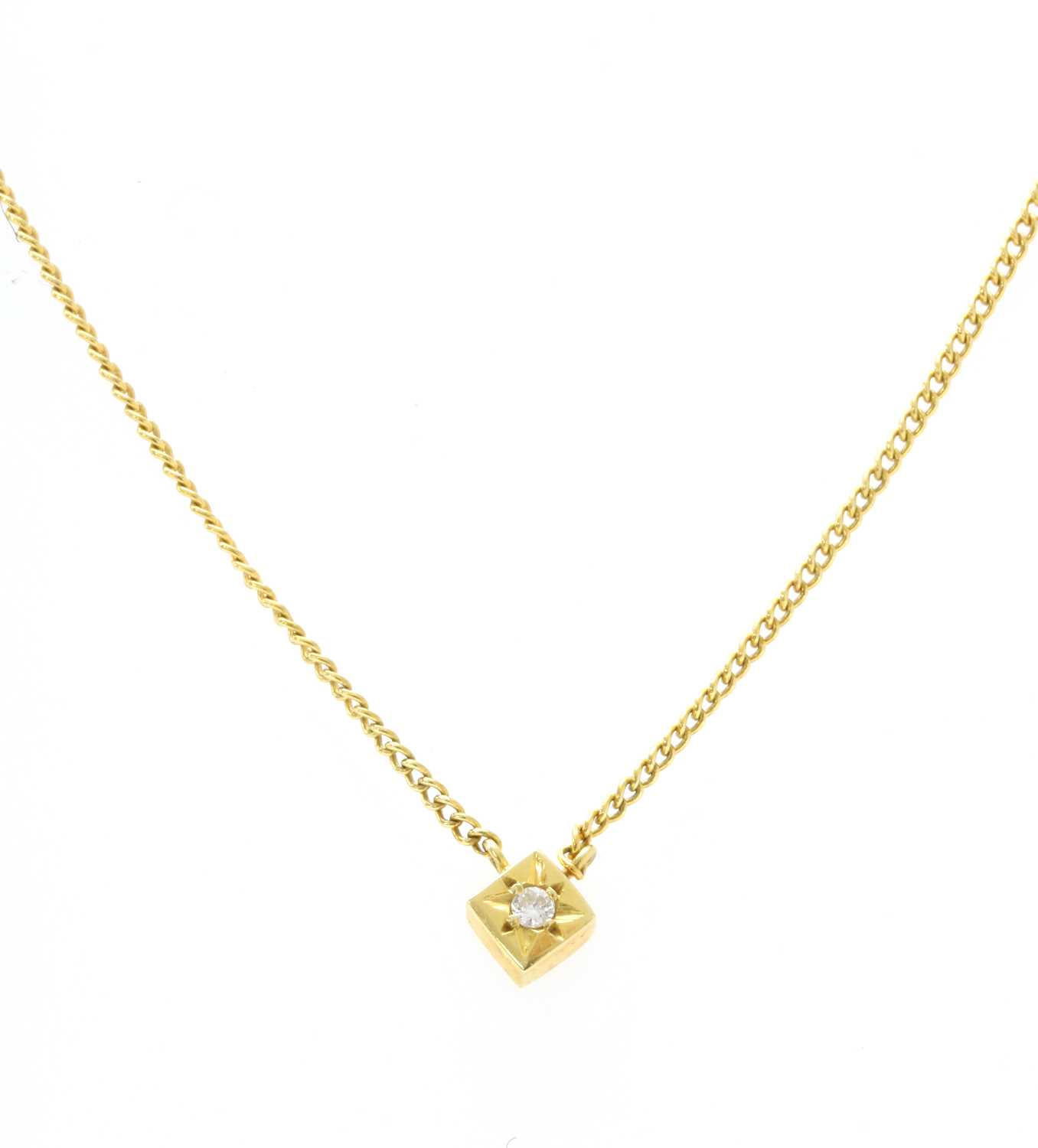 Lot 45 - An 18ct gold diamond set necklace, by Cropp & Farr