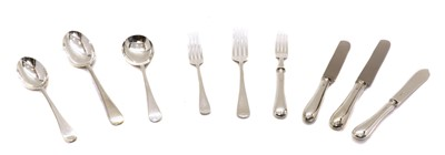 Lot 1 - A composite set of Old English silver cutlery