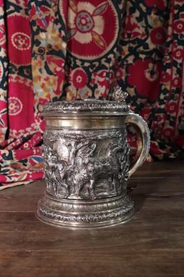 Lot 494 - A large Victorian silver Saddlers' Company commemorative tankard