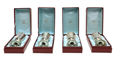 Lot 33 - Four silver limited editions of the 'Hertford Elizabethan Chalice'
