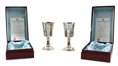 Lot 32 - Two silver limited editions of the 'Hertford Elizabethan Chalice'