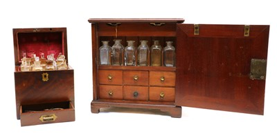 Lot 63 - Two 19th century mahogany apothecaries boxes