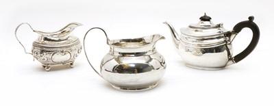 Lot 107 - A silver bachelors teapot