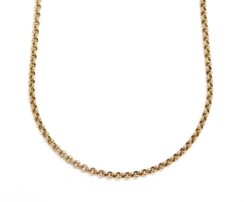 Lot 92 - A 9ct gold hollow belcher link chain