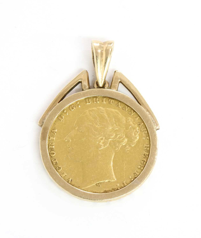 Lot 89 - An 1876 sovereign pendant