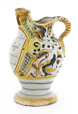 Lot 449 - An Italian maiolica wine jug for the Greek market