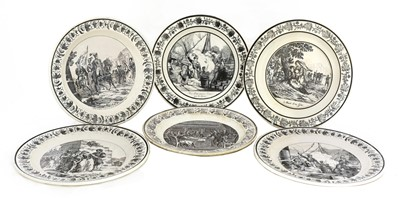 Lot 450 - Six various French faience plates