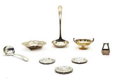 Lot 103 - A silver ladle