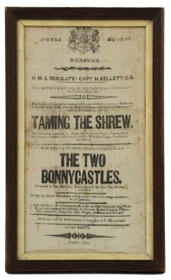 Lot 710 - A playbill from HMS Resolute