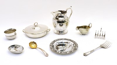 Lot 56 - A collection of silver and plated items