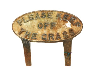 Lot 112 - A painted cast iron sign