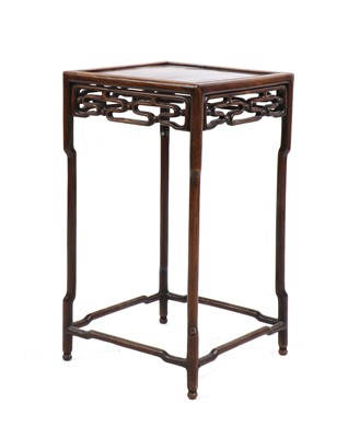 Lot 8 - A Chinese hardwood side table