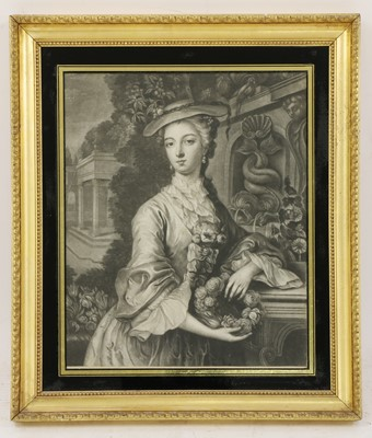 Lot 24 - James McArdell (Irish, 1729-1765) and Robert Houston (Irish, 1721-1775), after Samuel Wale