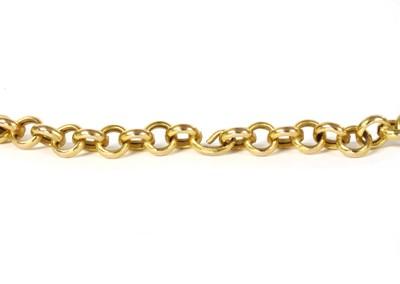 Lot 93 - A 9ct gold hollow belcher link chain