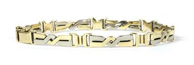 Lot 101 - A two colour gold bracelet