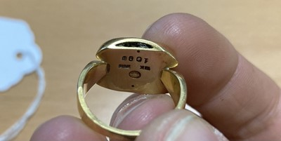 Lot 85 - A gold ring, by Georg Jensen