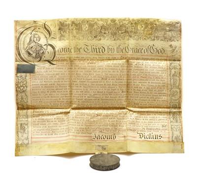 Lot 87 - GEORGE III Vellum Document