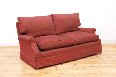 Lot 33 - A modern two-seater sofa