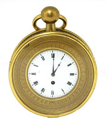Lot 108 - A small French ormolu sedan clock