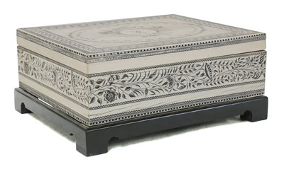 Lot 47 - An Anglo-Indian ivory box
