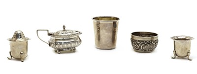 Lot 13 - A collection of silver tableware