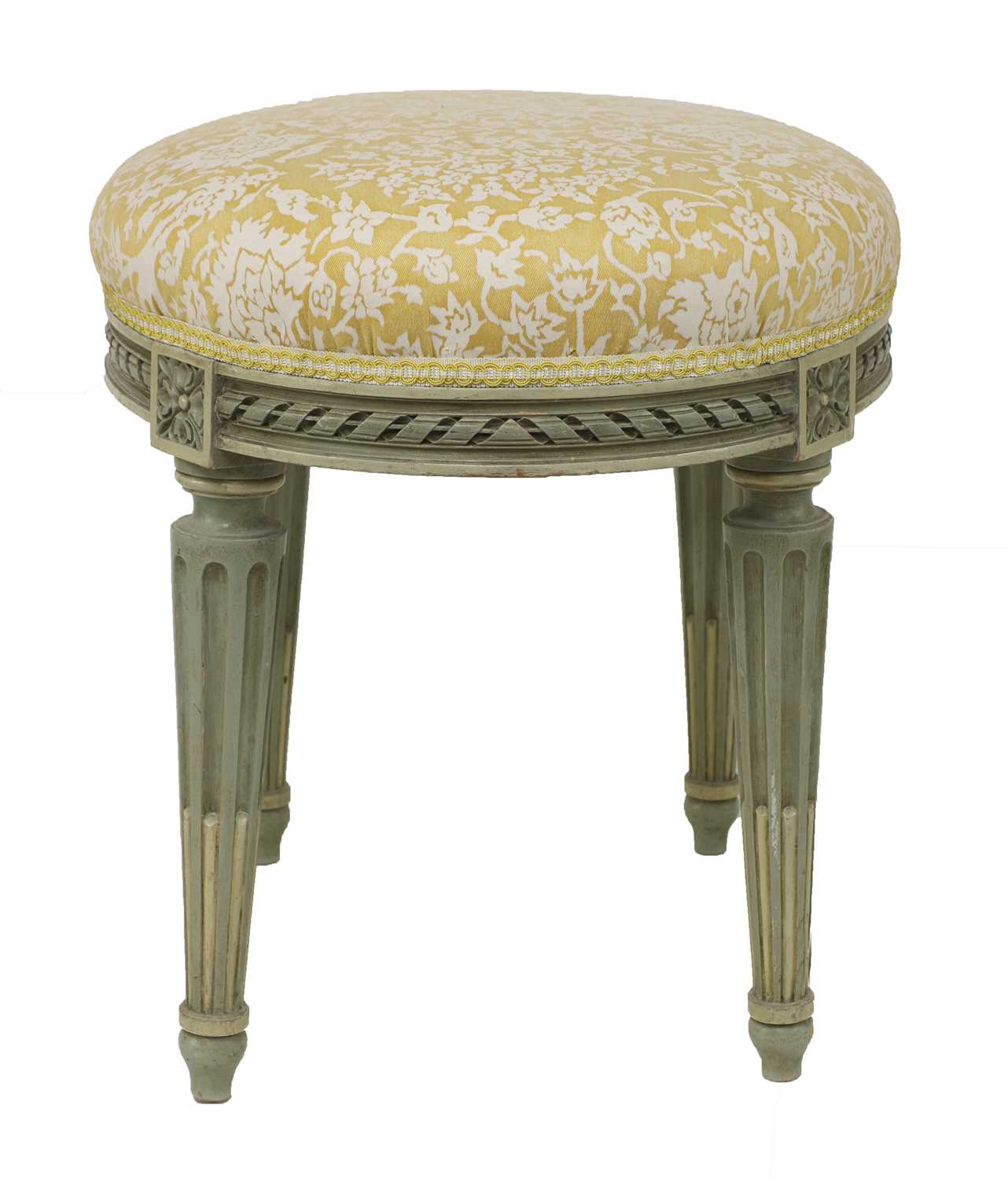 Lot 30 - A small French Louis XVI-style painted stool