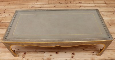 Lot 40 - A Chinese-style painted and parcel-gilt low table