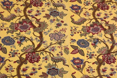 Lot 35 - Two pairs of lined and interlined Jaipur pattern curtains