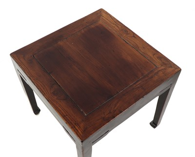 Lot 18 - A pair of Chinese hardwood square tables