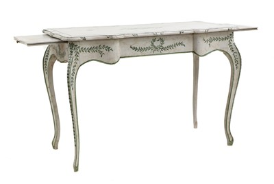 Lot 65 - A French provincial Louis XV-style bureau plat