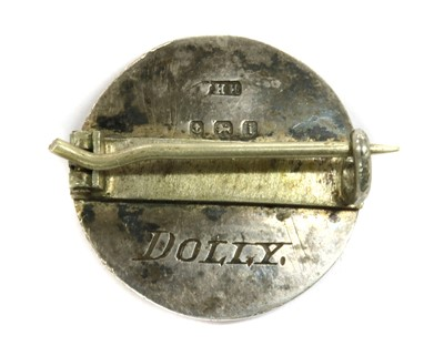 Lot 38 - A silver enamel brooch, by William Hair Haseler