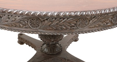 Lot 95 - An Anglo-Indian padouk centre table