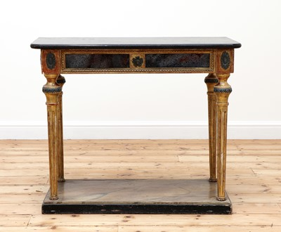 Lot 483 - A French marble top console