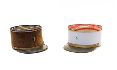 Lot 95 - A French military hat inscribed Ercole D'Application Cavalerie & Train, Saumur Plazanet