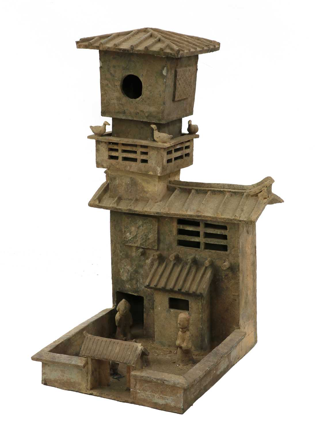 Lot 1 - A Chinese earthenware model