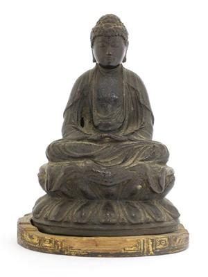 Lot 120 - A bronze Shakyamuni Buddha