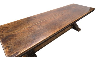 Lot 226 - A Continental walnut refectory table