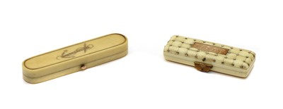 Lot 75 - An ivory toothpick case