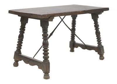 Lot 205 - A Spanish walnut table