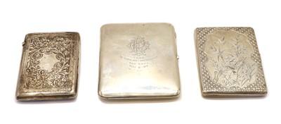 Lot 16 - A Victorian silver cigarette case