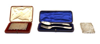 Lot 10 - A Victorian silver card case
