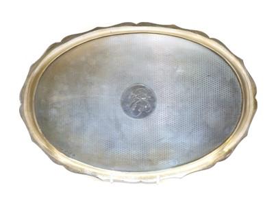 Lot 6 - A silver tea tray