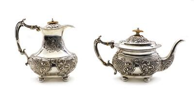 Lot 2 - A Victorian silver teapot