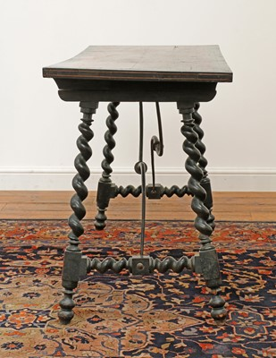 Lot 220 - A Spanish rosewood side table
